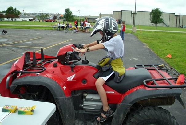 Is Your Child REady to Operate an ATV for Farm Use? // www.ruralmutual.com/farmsafety